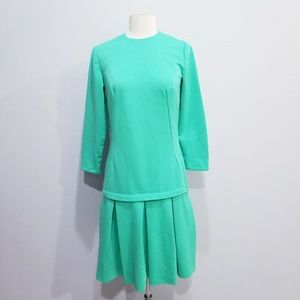 Vintage 60's 70's drop waist mod dress
